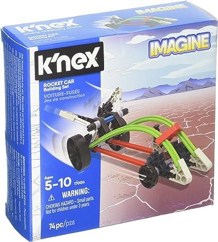 Rocket Car K/'Nex Starter Vehicle Building Set 74 Pcs Construction Toy for Kids
