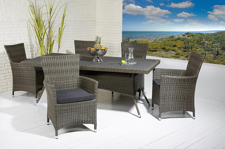 essgruppe sitzgruppe gartengarnitur grey mix tisch und 6. Black Bedroom Furniture Sets. Home Design Ideas