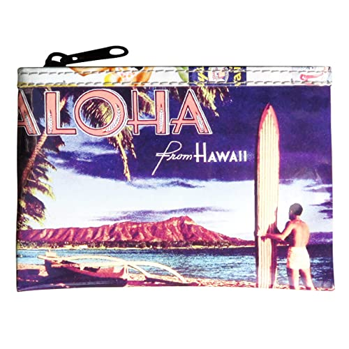 Amazon com: Coin purse with vintage Hawaiian lifestyle print FREE