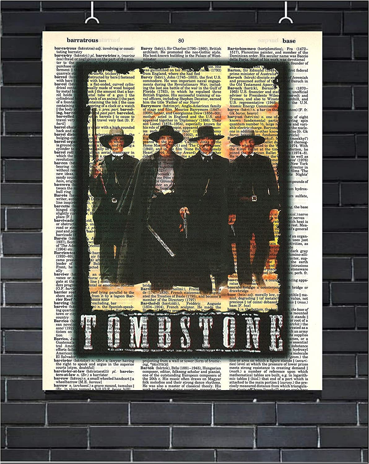 Tombstone Movie Poster Wyatt Earp Doc Holliday Western Wall Decor Tombstone Dictionary Art Print