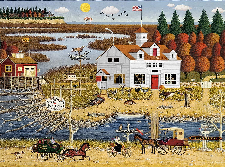 Buffalo Games Charles Wysocki - Carver Coggins - 1000 Piece Jigsaw Puzzle, Multi