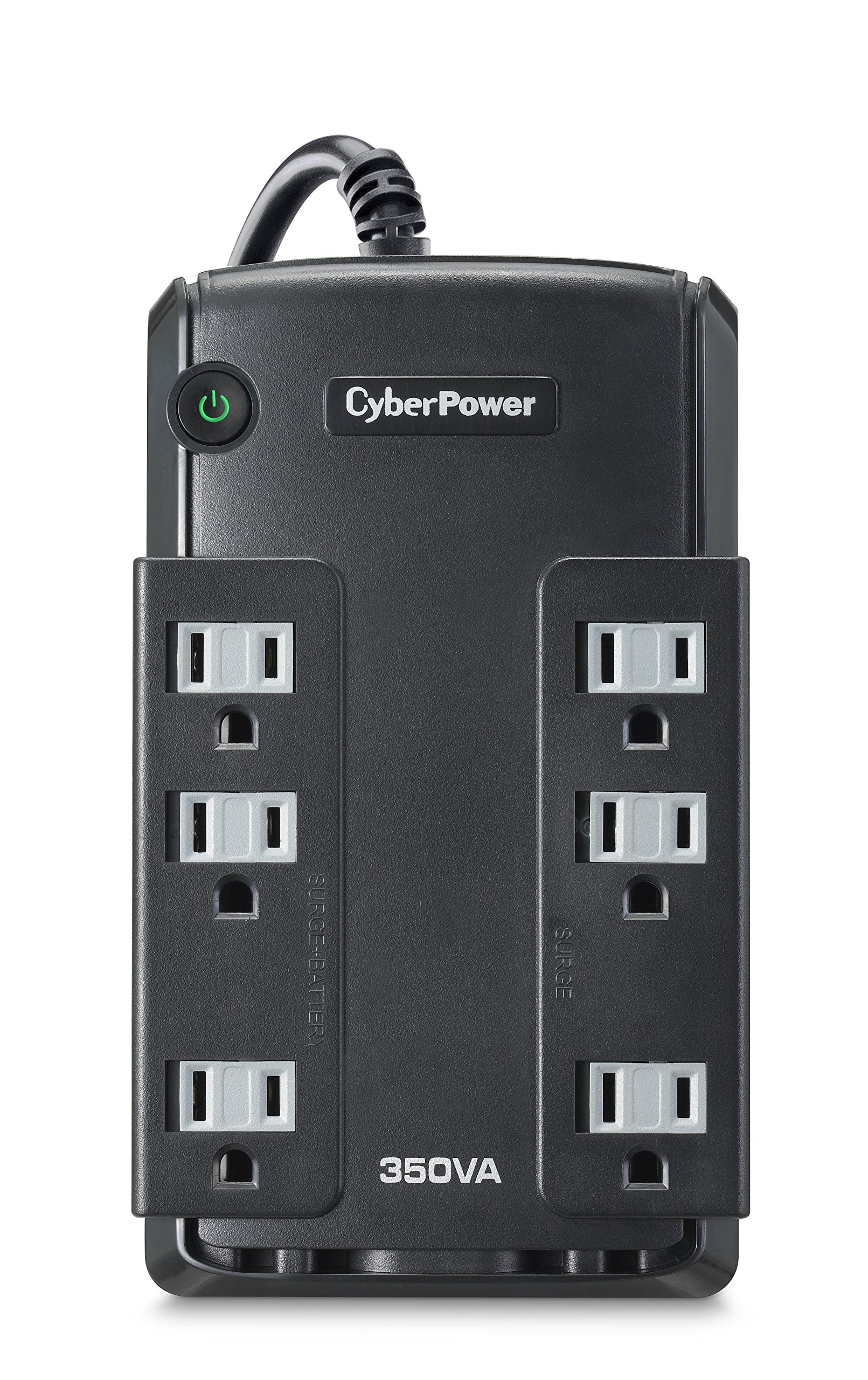 CyberPower CP350SLG Standby UPS System, 350VA/255W, 6 Outlets, Compact