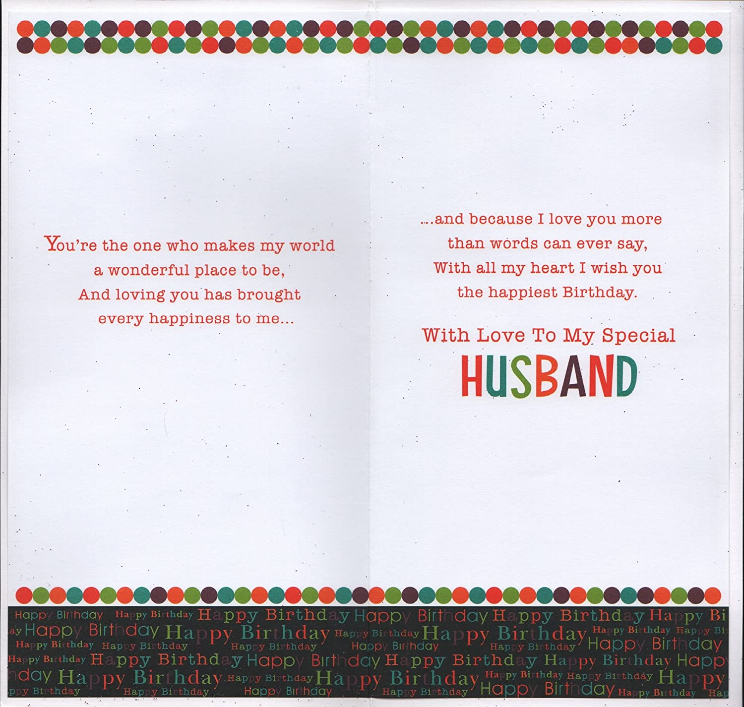 Husband Birthday Card Husband You re The Best In The World