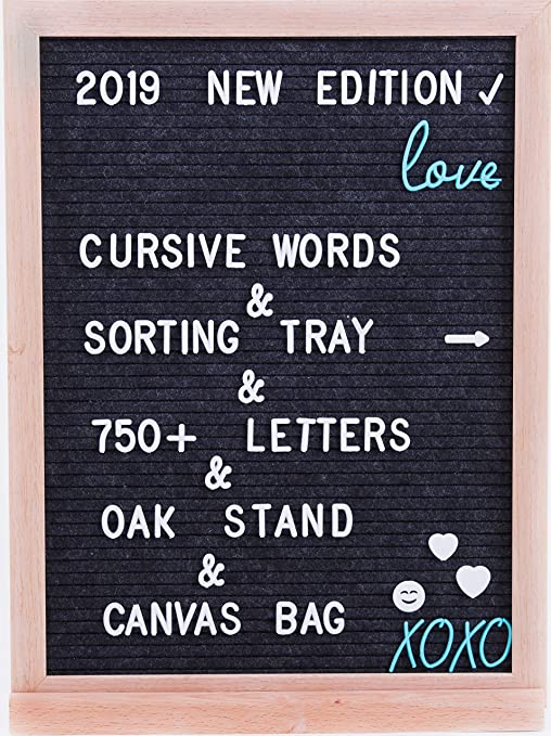 Grey Felt Letter Board – 12x16