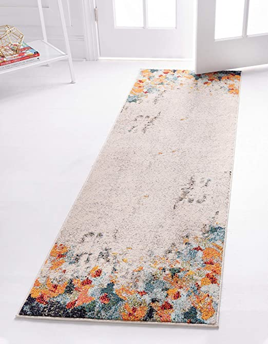 2 2 x 3 0 Unique Loom Chromatic Collection Modern Abstract Colorful Multi Area Rug