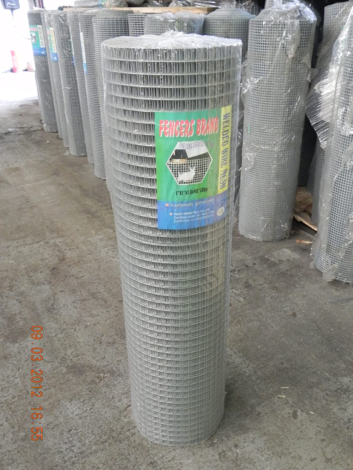 Fencers Brand Welded Wire Mesh 1 x 1 x 48 x 30mtr (19g) 4ft