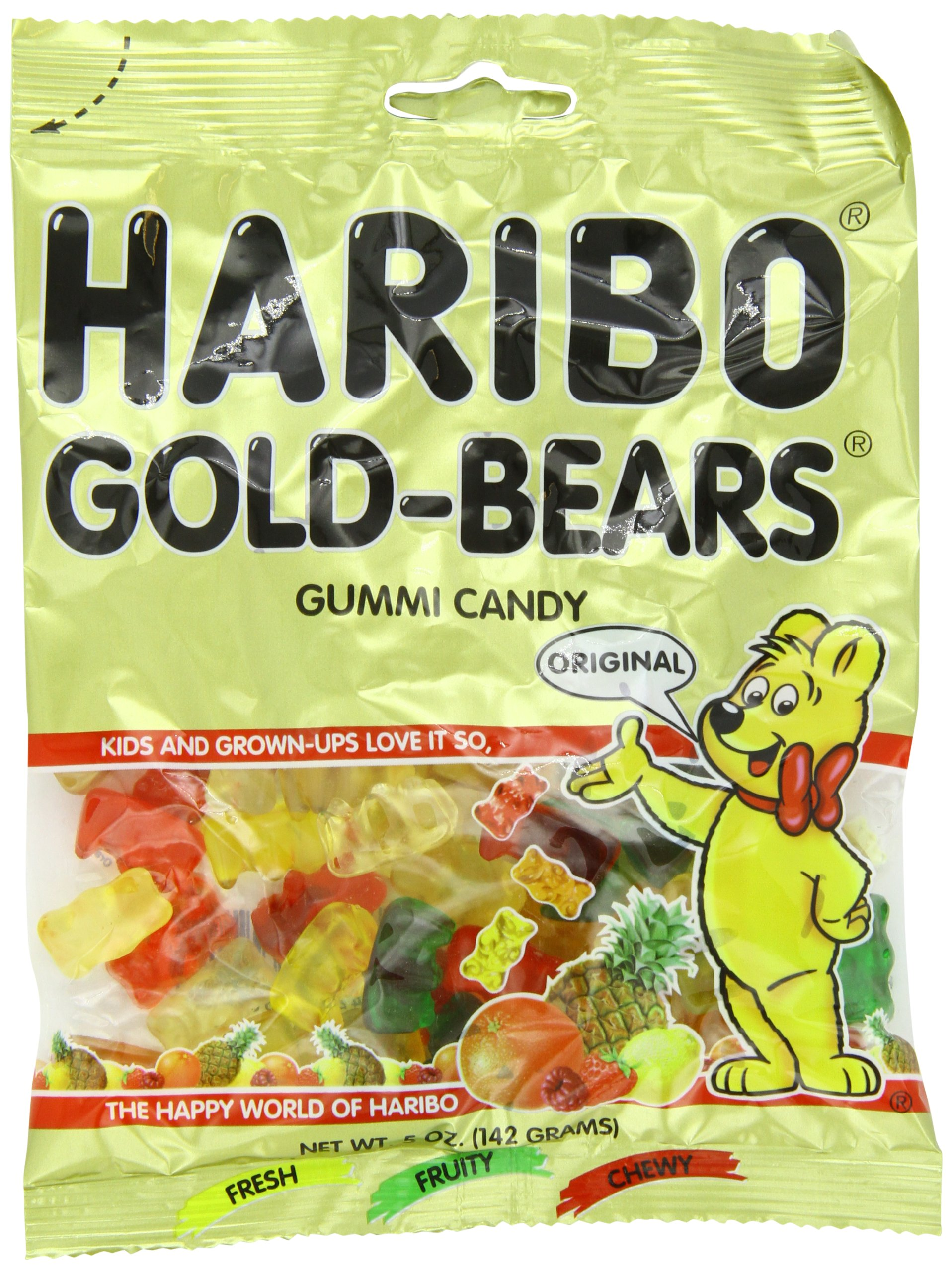 Haribo Gold Bears, 5-Ounces (Pack Of 12) by Haribo