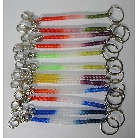 12 x Llavero Llavero de espiral colgante 17 cm Multicolor ...
