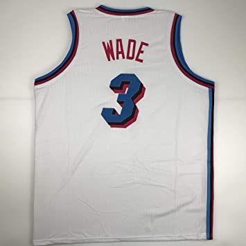 the best attitude eba37 a2fab Unsigned Dwyane Wade Miami White City Vice Custom Stitched ...