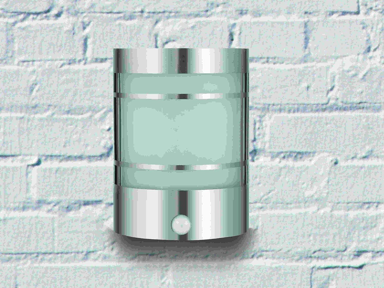 IR Wand-Außenleuchte mit Bewegungsmelder Edelstahl IP44 Außenlampe Sensor Bew... BTR