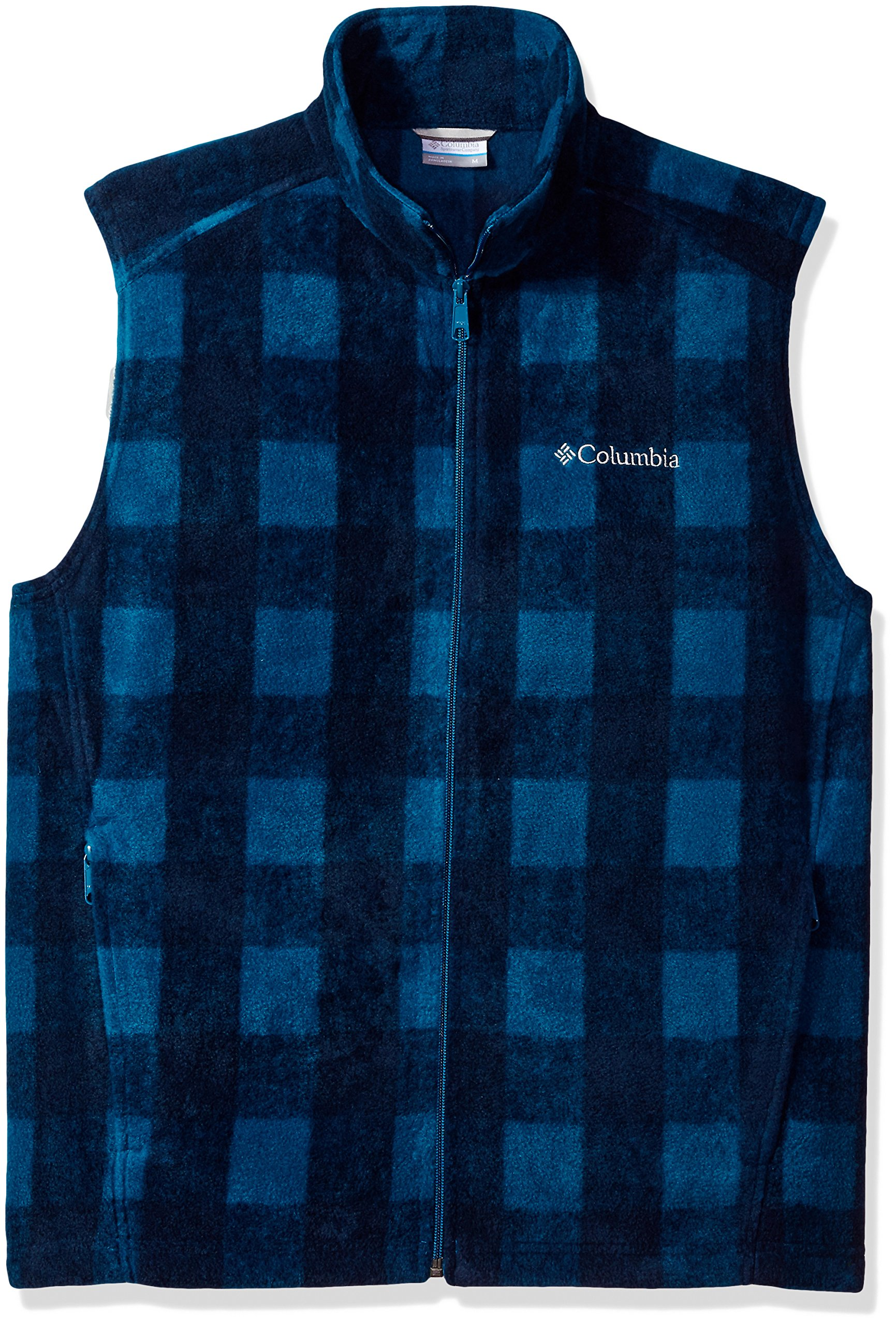 Columbia Men's Cascades Explorer Full Zip Fleece Jacket, Phoenix Blue Plaid, Large