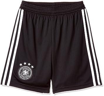 9e7b358273f adidas D04268 Children's German National Team Football Home Golf Shorts 2018  Football Shorts, Black/