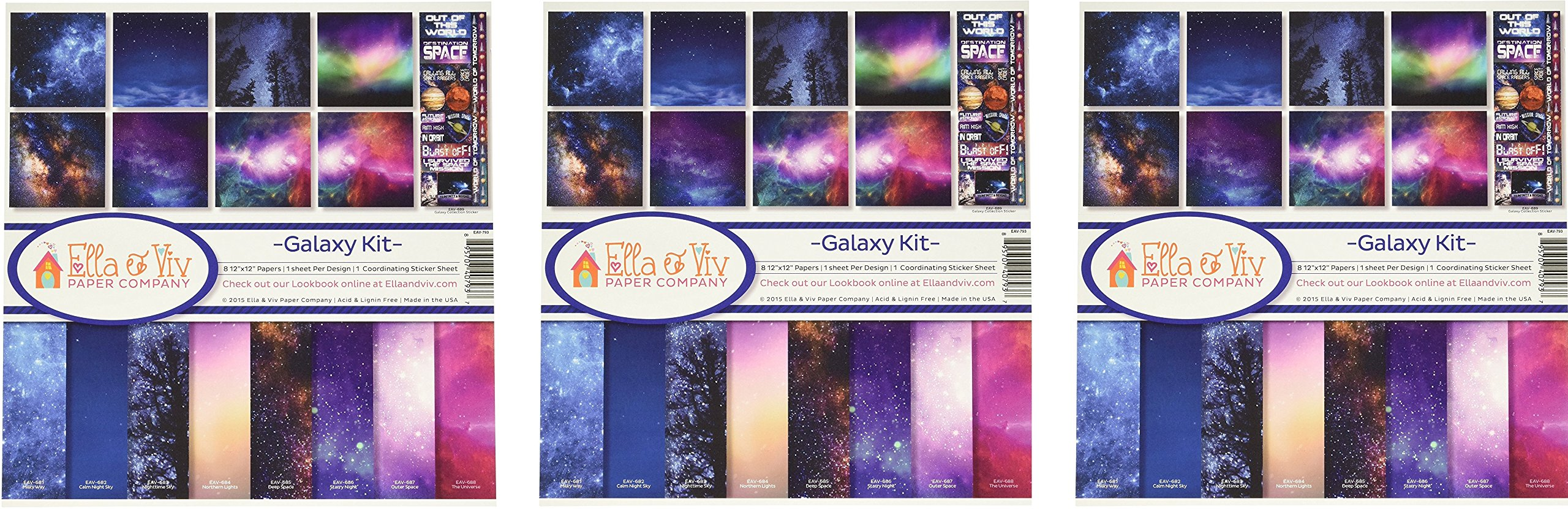 Ella & Viv by Reminisce EAV-793 Galaxy Collection Kit (3 Pack)