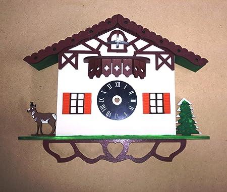 PLAIN MDF CUCKOO CLOCK KITCHEN DIY CRAFT KIT GIFT ART HOME