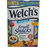 Welch's Fruit Snacks 60 Count (60 X 22g), Net Weight 1.32 kg