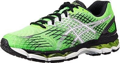 ASICS Mens Gel-Nimbus 17 Flash Green, White and Black Mesh Running Shoes - 8 UK: Amazon.es: Zapatos y complementos