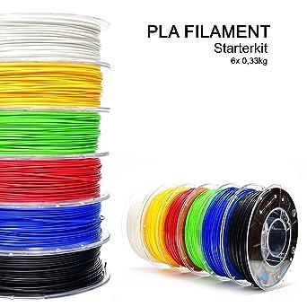 Kit de inicio de filamentos PLA de storeHD, blanco, rojo, amarillo ...