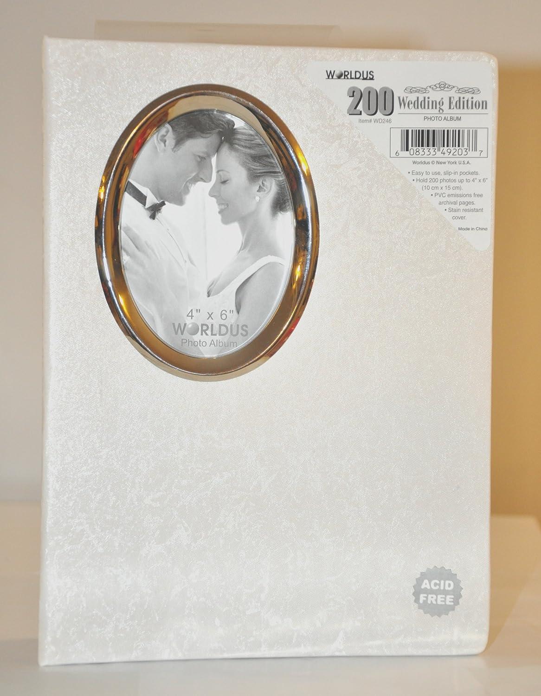 200 Pocket White 4x6 Photo Wedding Albums