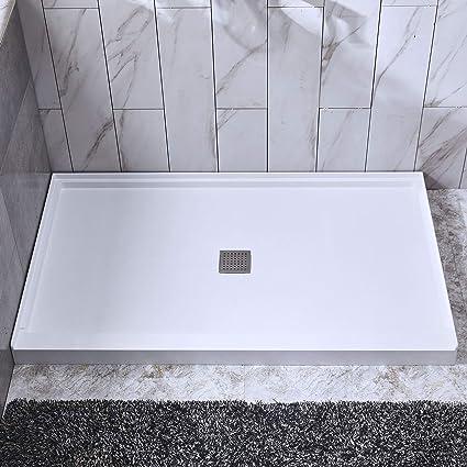 Solid Surface Shower Base.Woodbridge Sbr6032 1000c Shower Base 60 L X 32 W X 4 H