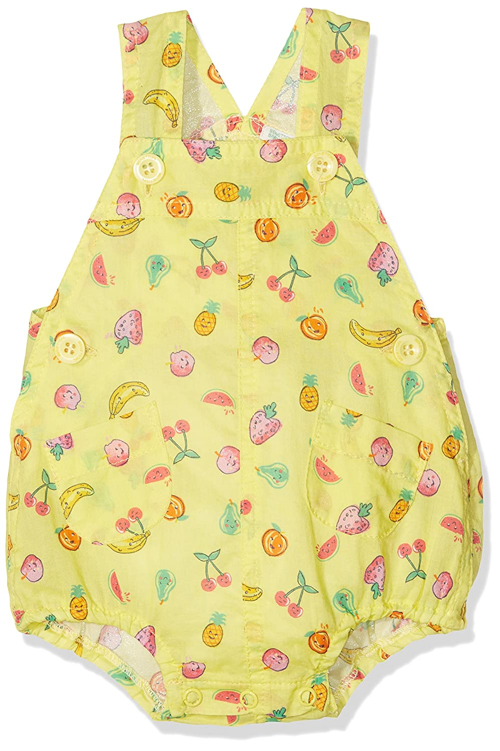 United Colors of Benetton Dungaree, Petos para Bebé s Petos para Bebés Amarillo (Yellow Multi) 6-9 Meses (Talla del Fabricante: 68) 4CFP5829E