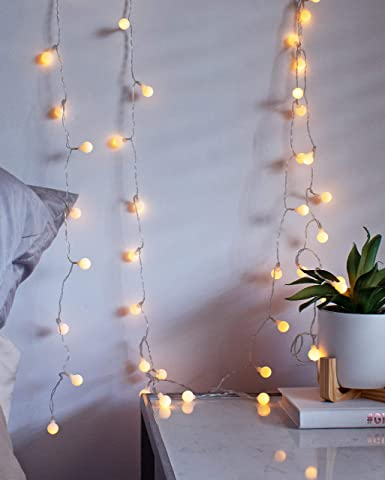 Tiny Christmas Lights.Luxlumi Tiny White Globe String Lights With 50 Warm White Led Remote Control For Multiple Light Show Patterns For Birthday Party Baby Shower