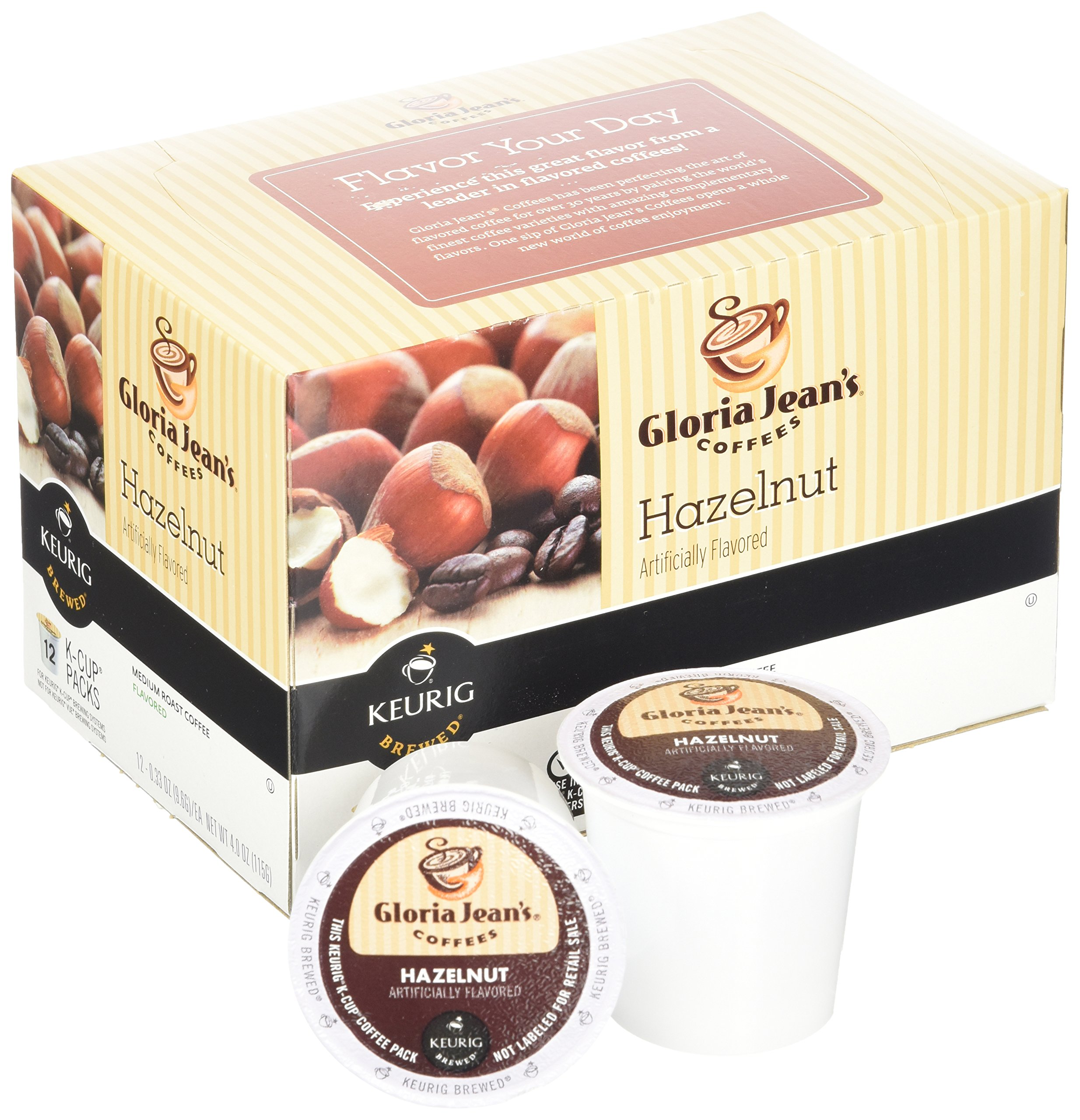 Green Mountain Coffee Roasters Gourmet Single Cup Coffee Hazelnut Gloria Jean's Coffee 12 K-Cups by Green Mountain Coffee Roasters (Image #2)