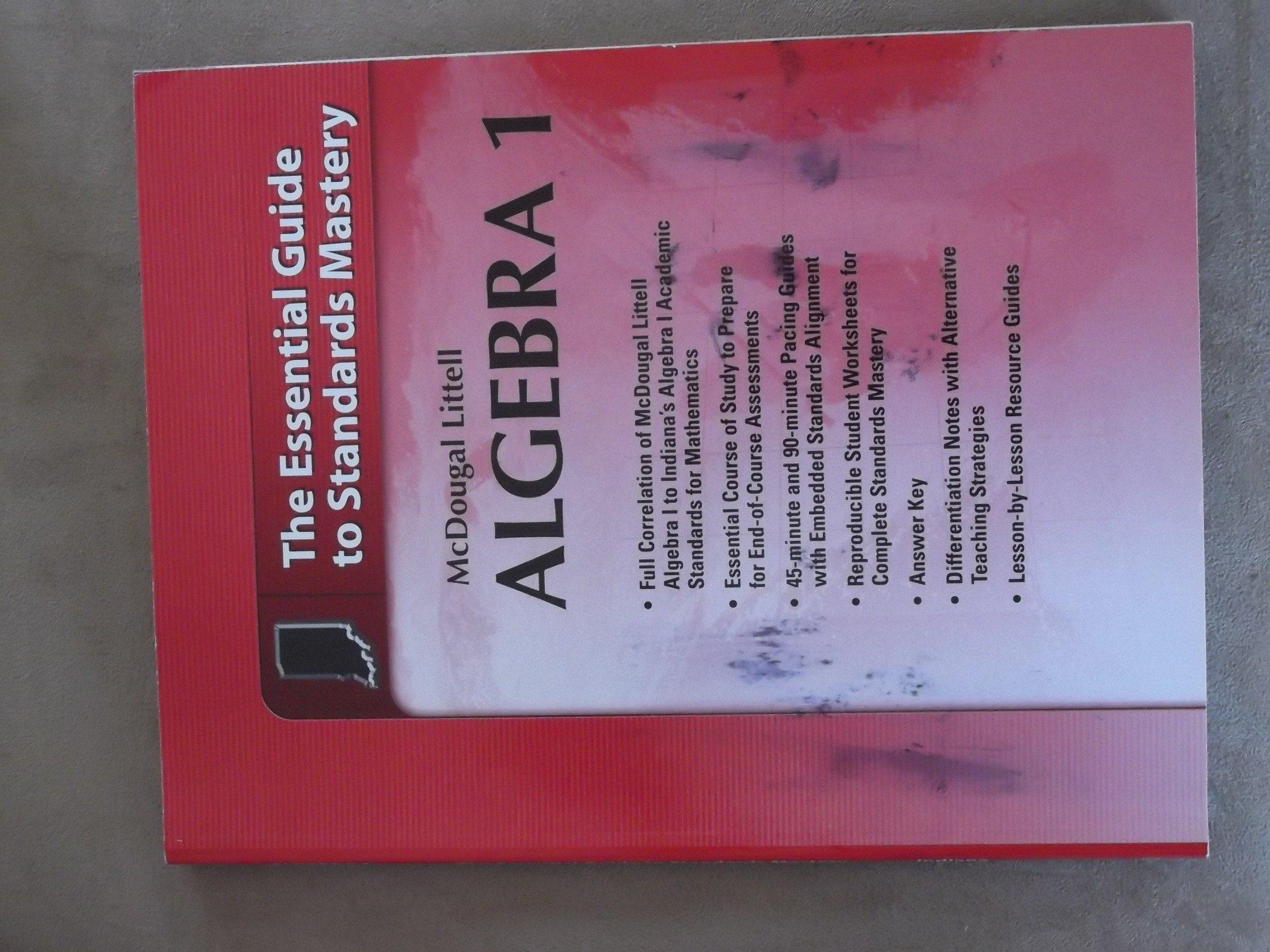 Worksheets Mcdougal Littell Algebra 1 Worksheet Answers mcdougal littell algebra 1 the essential guide to standards mastery for indiana larson 9780547333083 amazon com books