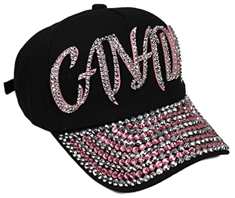 """3411dfded High End Hats Bling Hat Sports Collection """" Rhinestone Adjustable Baseball  Cap"""