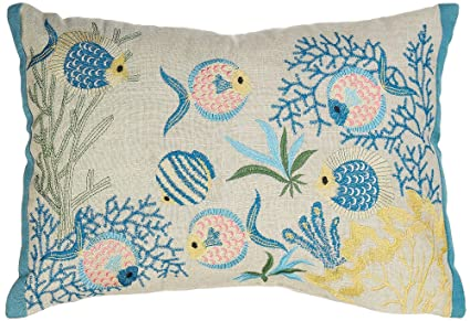 Amazon.com: Arlee estanque de peces almohada decorativa ...