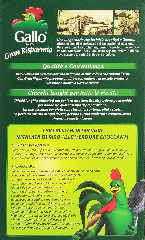gallo - chicchi lunghi, per tutte le ricette - 850 g: amazon.it ... - Come Cucinare Il Gallo