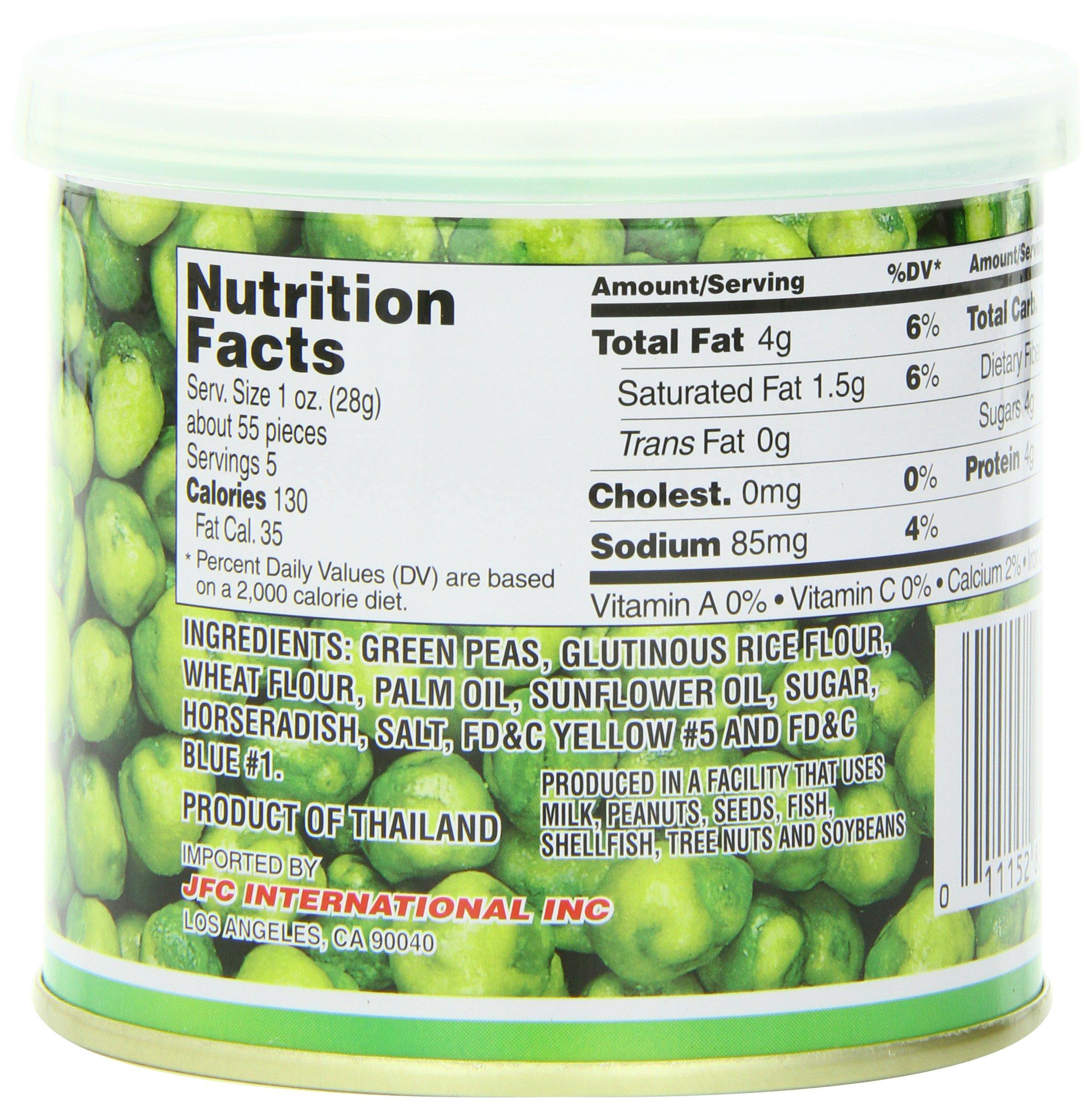 Hapi Hot Wasabi Peas, 4.9-Ounce Tins (Pack of 8) by HAPI (Image #1)