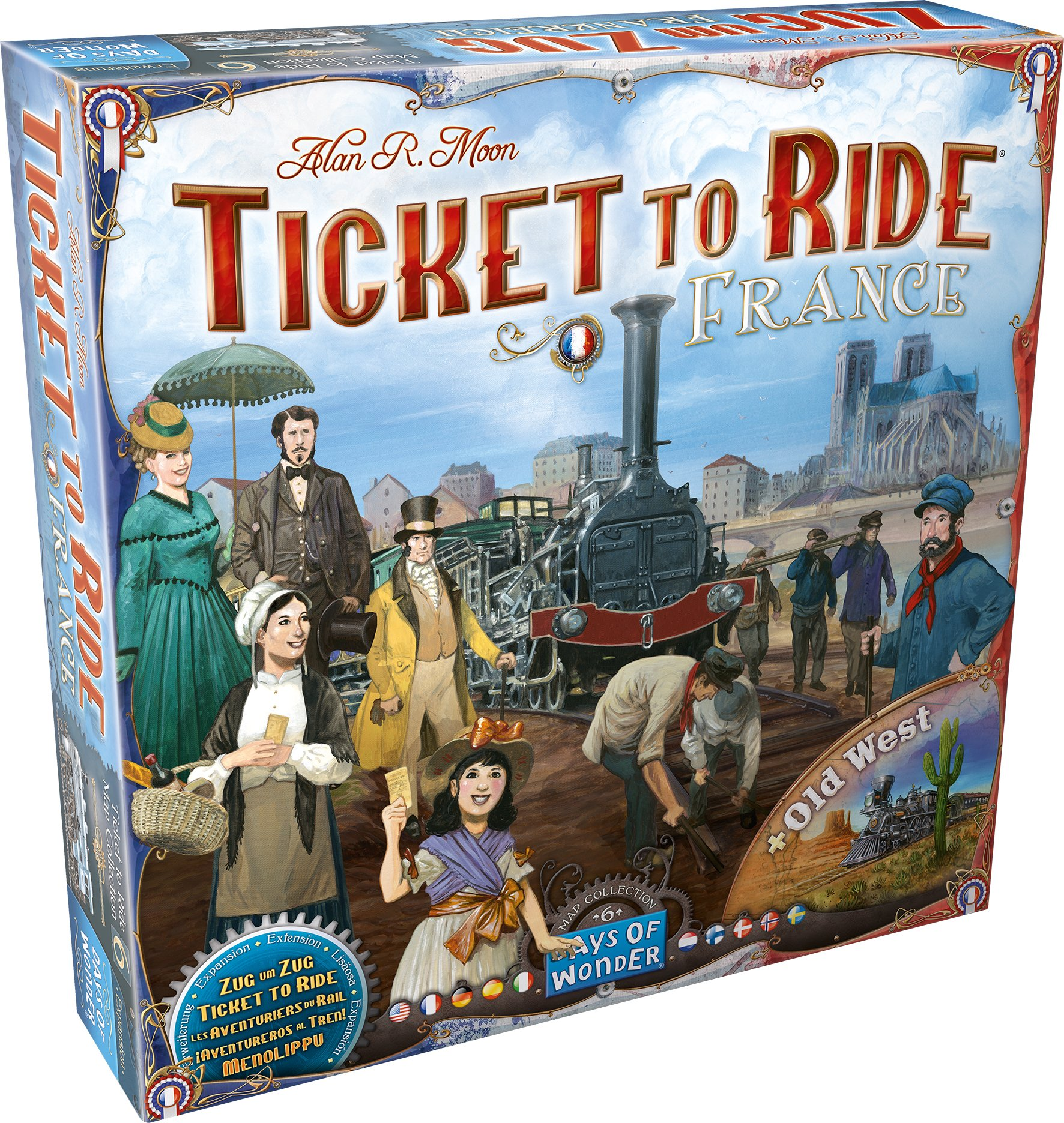 Ticket to Ride: France and Old West Map Collection Six by Days of Wonder (Image #1)