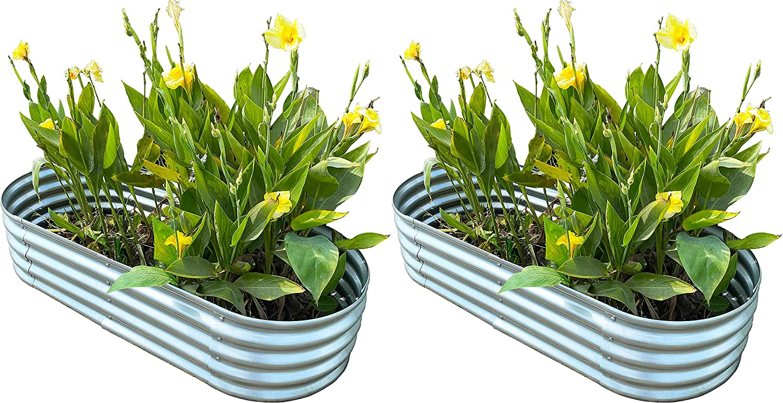 Oval Metal Raised Garden Bed Planter 57