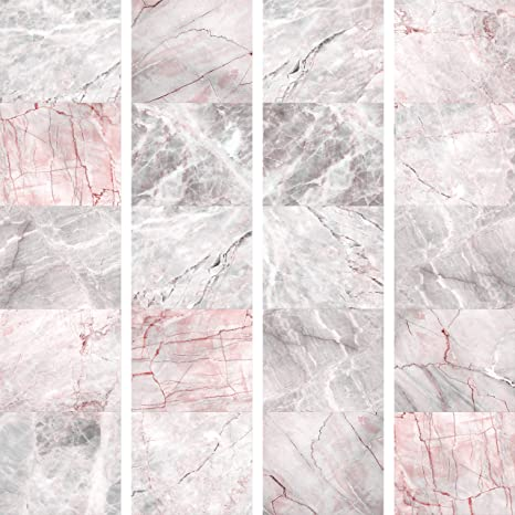 Murando Puro Tapete Realistische Marmoroptik Tapete Ohne Rapport Und Versatz 10m Vlies Tapetenrolle Wandtapete Modern Design Fototapete Marmor