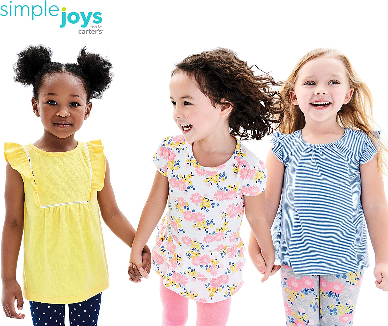 Pack of 3 Simple Joys by Carters Unisex Baby 3-Pack Short-Sleeve Shirts and Tops