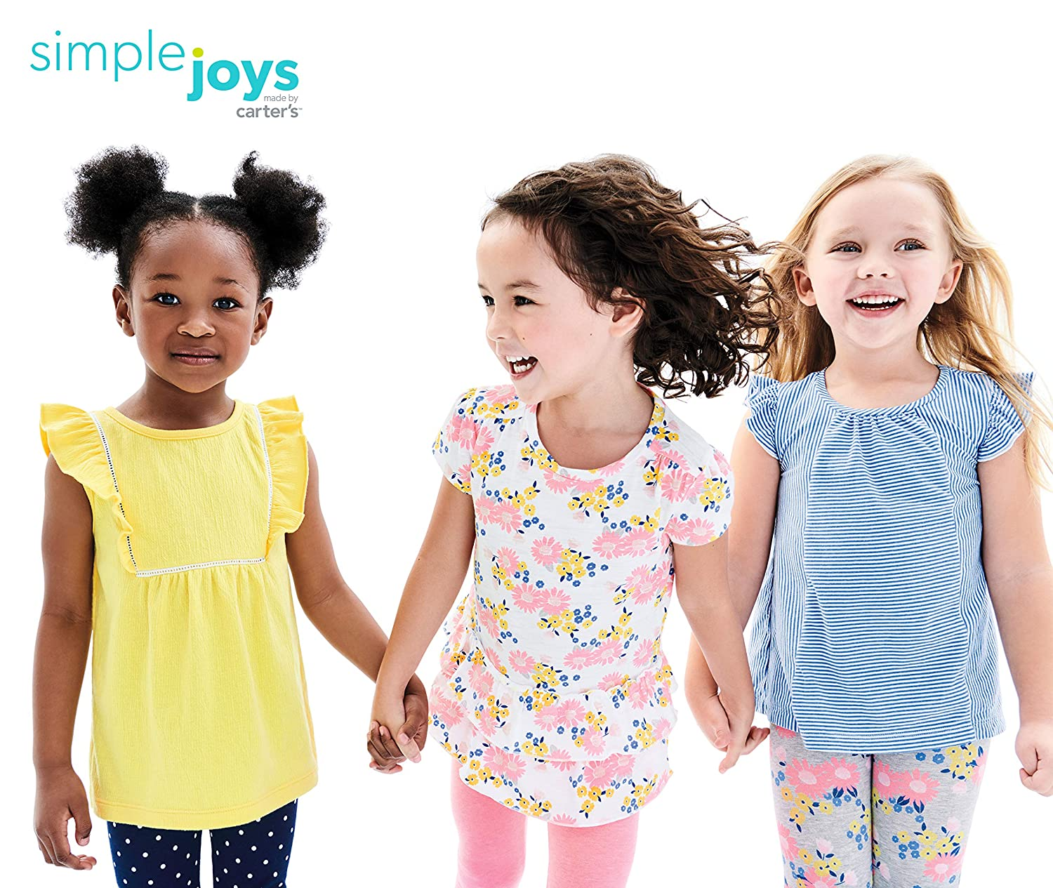 8f1a10dd952bc Clothing, Shoes & Jewelry Simple Joys by Carters Baby Girls Toddler 3-Pack  Short-Sleeve Shirts ...