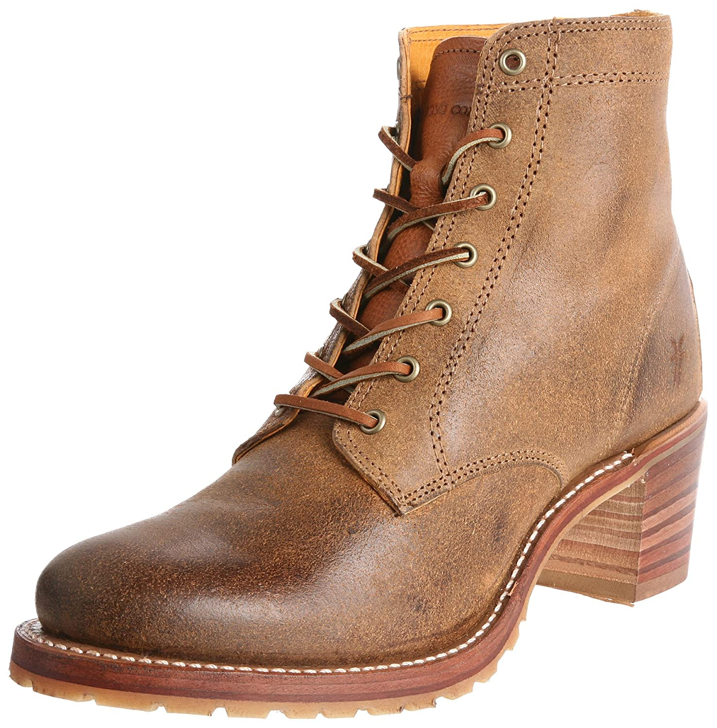FRYE Women's Sabrina 6G Lace-Up Boot B004GTQQHW 10 B(M) US|Tan-77591