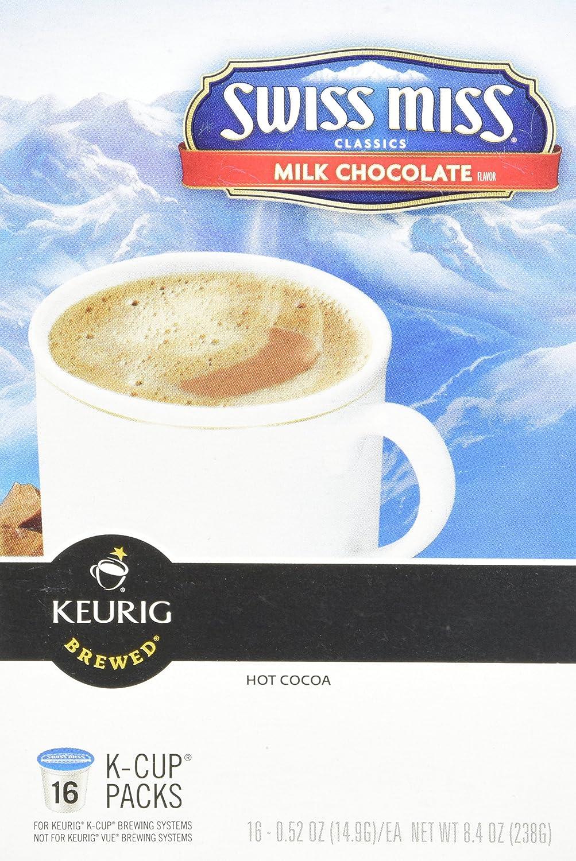 Amazon.com: Swiss Miss Keurig K-cups Milk Chocolate Hot Cocoa - 32 ...