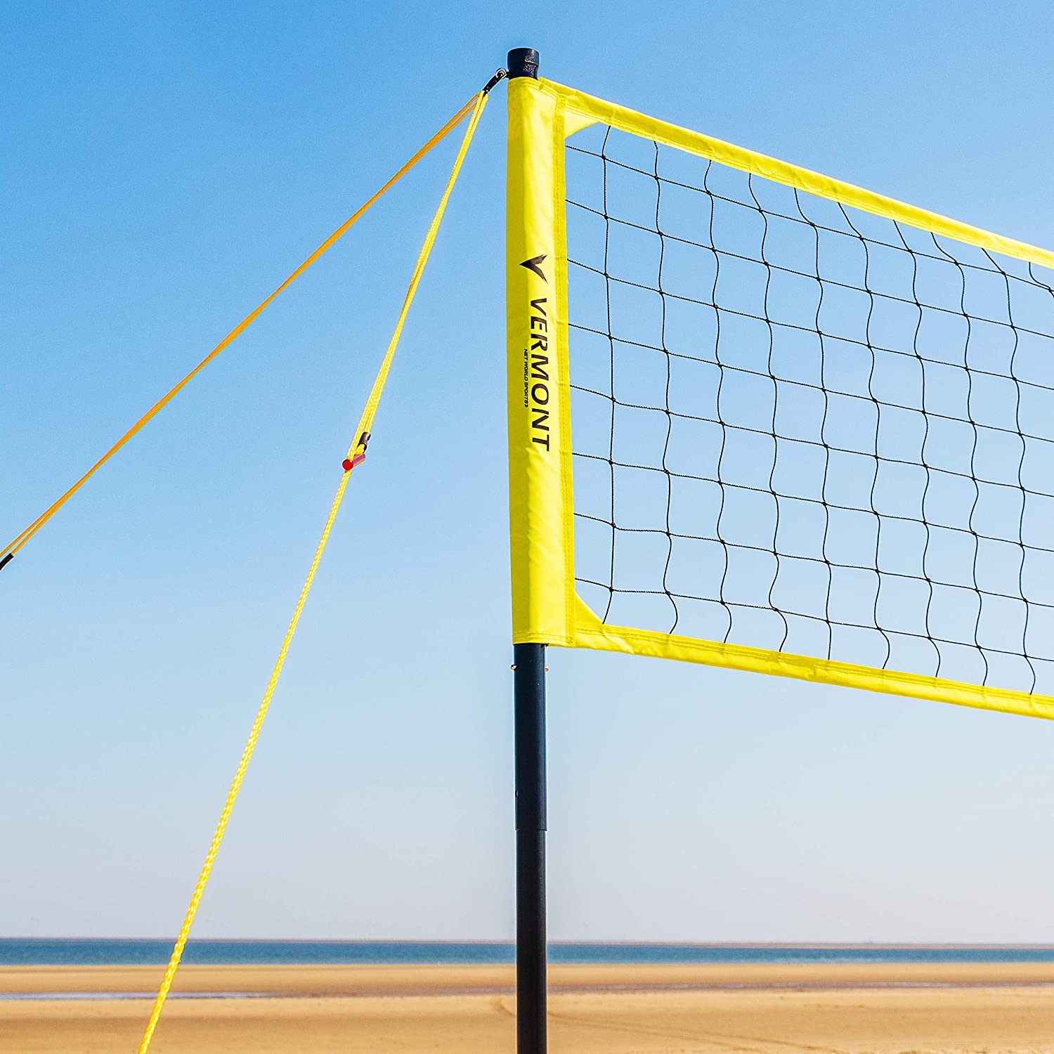 Vermont Portable Volleyball Set Aluminium Telescopic Posts Carry Bag Included Beach Set Amazon Co Uk Sports Outdoors