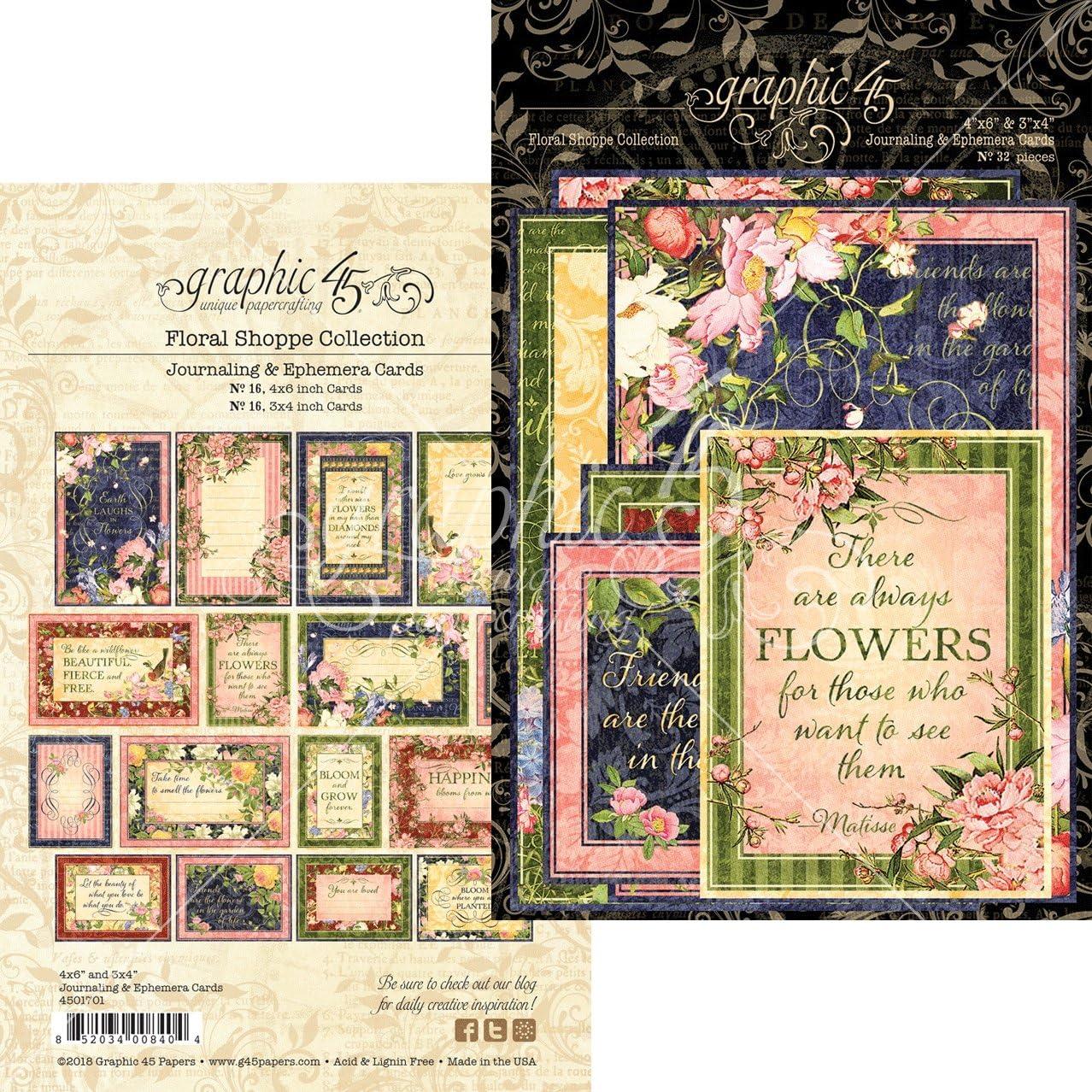 GRAPHIC 45 ~ LOVE NOTES ~ Journaling /& Ephemera Cards ~ 32 Pieces