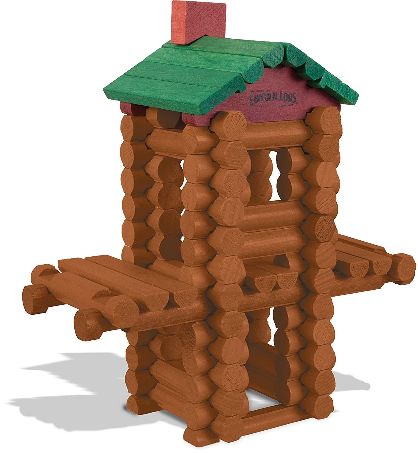 Amazon.com: LINCOLN LOGS U2013 100th Anniversary Tin   111 All Wood Pieces U2013  Ages 3+ Construction Education Toy: Toys U0026 Games