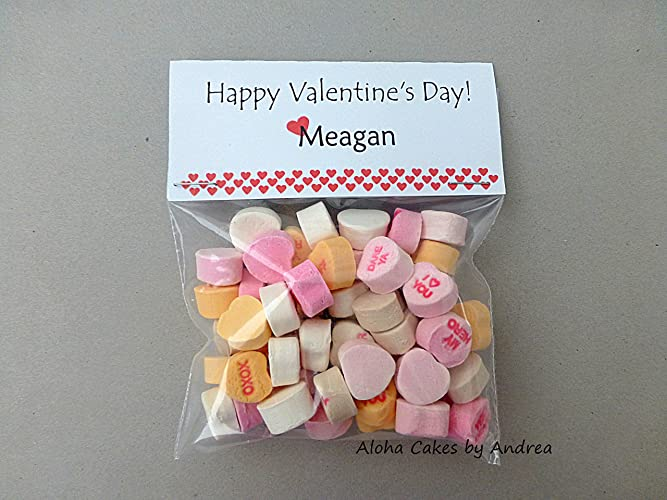 happy valentines day treat bag topper personalized candy treat bag valentines day classroom - Personalized Valentine Candy