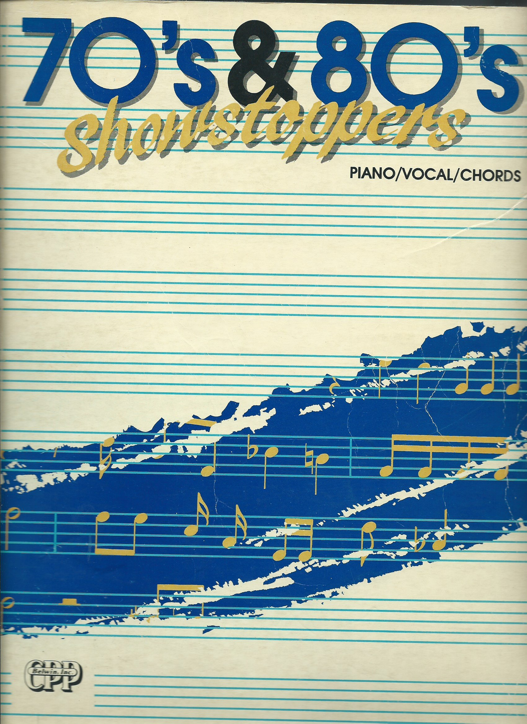 70s 80s Showstoppers Songbook Piano Vocal Guitar Chords