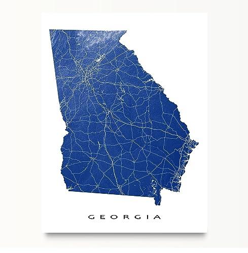 Amazon georgia map print ga state art usa atlanta handmade georgia map print ga state art usa atlanta sciox Gallery
