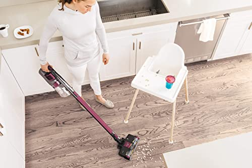 The vacuum can function on both carpets and hard floors