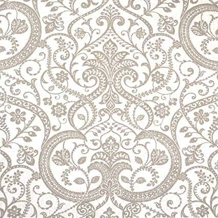 100 Linen Fabric A Classical Floral Printed Pattern In