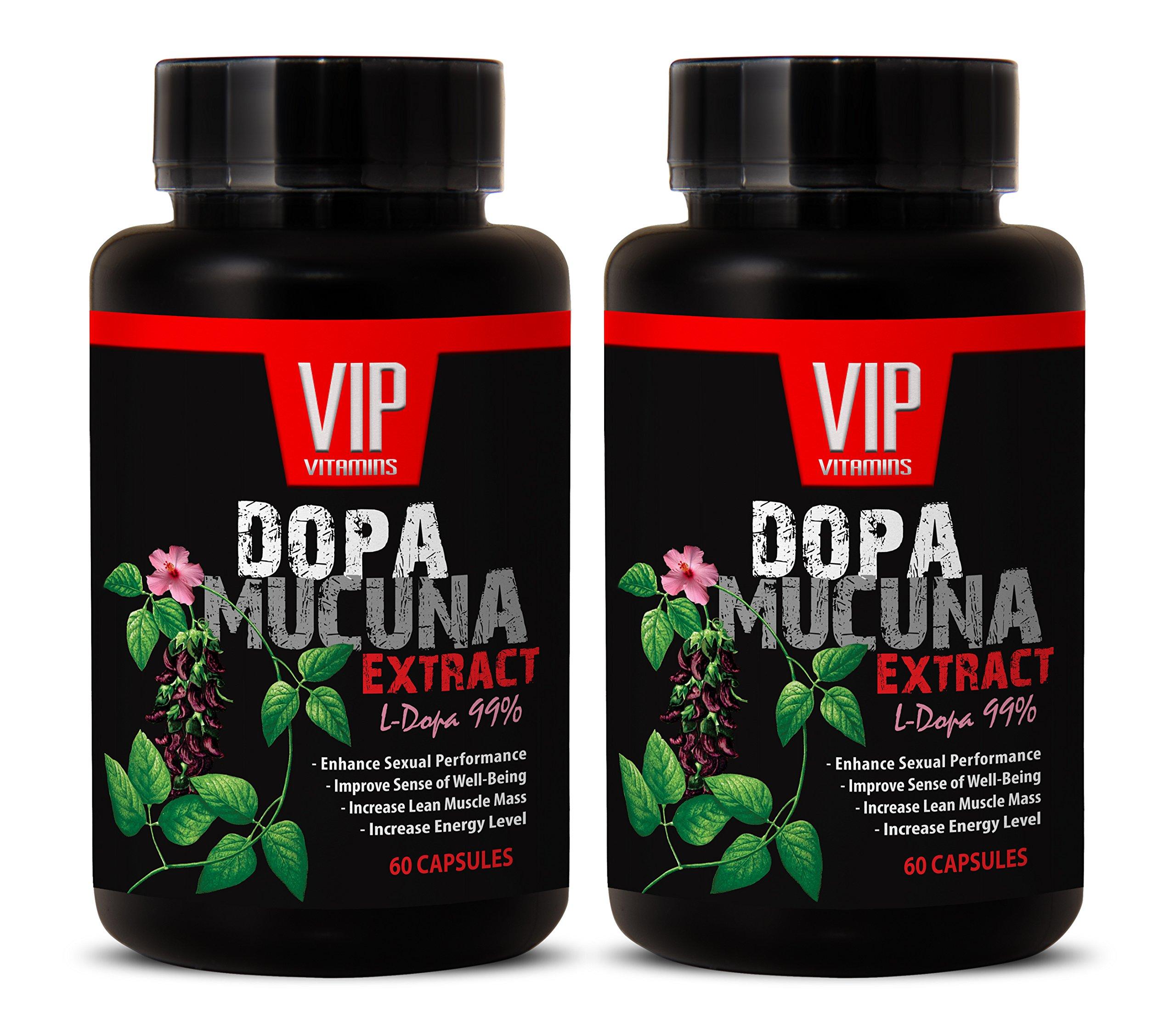 Fight depression - DOPA MUCUNA EXTRACT (L-DOPA 99%) - L-dopa - 2 Bottles 120 Capsules