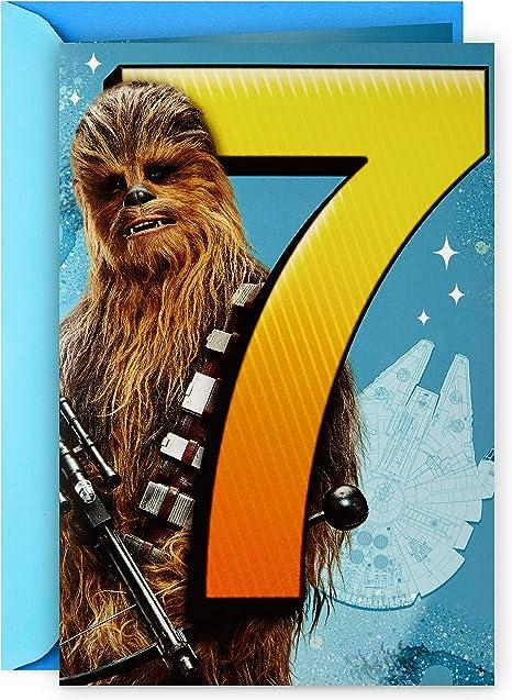 Amazon.com: Hallmark Star Wars - Tarjeta de felicitación de ...