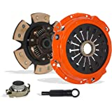 Clutch Kit Works With Mitsubishi Eclipse Gt Spyder GTS Convertible Hatchback 2000-2005 3.0L V6 GAS SOHC Naturally Aspirated (6G72 5 Speed Manual Mitsubishi F5M51-1; 6-Puck Disc Stage 3)