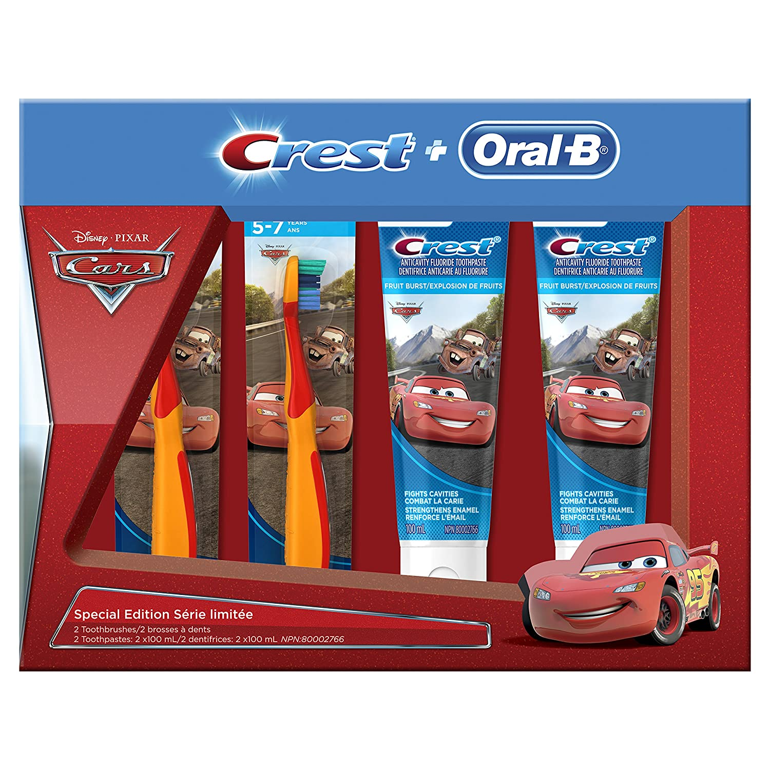 $5 Crest Oral-B & Kids Special Pack Featuring Disney & Pixar's Cars